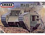 WWI Male Mk IV Tank -- Plastic Model Military Vehicle Kit -- 1/72 Scale -- #5001