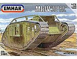 WWI Female Mk IV Tank -- Plastic Model Military Vehicle Kit -- 1/72 Scale -- #5002