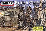 WWI British Artillery (24) -- Plastic Model Military Figure Kit -- 1/72 Scale -- #7202