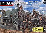 WWI German Artillery (24) -- Plastic Model Military Figure Kit -- 1/72 Scale -- #7204