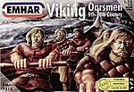 9th-10th Century Viking Oarsmen -- Plastic Model Military Figure Kit -- 1/72 Scale -- #7218