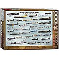 WWII Aircraft 1000pcs -- Jigsaw Puzzle 600-1000 Piece -- #6000-0075