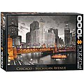 Chicago Michigan Avenue 1000pcs -- Jigsaw Puzzle 600-1000 Piece -- #6000-0658