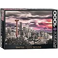 Seattle City Skyline 1000pcs -- Jigsaw Puzzle 600-1000 Piece -- #6000-0660