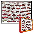 Vintage Fire Engines Collage (1000pc) -- Jigsaw Puzzle 600-1000 Piece -- #60239