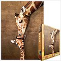Mother Giraffe Kissing Little Giraffe (1000pc) -- Jigsaw Puzzle 600-1000 Piece -- #60301