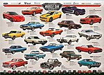 American Muscle Car Evolution (1000pc) -- Jigsaw Puzzle 600-1000 Piece -- #60682