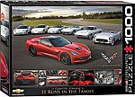 Runs in the Family- 2014 Corvette Stingray (1000pc) -- Jigsaw Puzzle 600-1000 Piece -- #60736