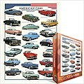 American Classic Cars Collage (1000pc) -- Jigsaw Puzzle 600-1000 Piece -- #63870