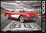 Driving Down Route 66-1959 Corvette (1000pc) -- Jigsaw Puzzle 600-1000 Piece -- #80665