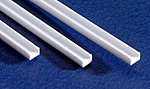 Styrene Channel .060 1.5mm (4) -- Model Railroad Scratch Building Supply -- #261