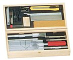 Deluxe Knife & Tool Set- Knives, Blades, Gouges, Routers, Mitre Box, Screwdrivers, Awl)