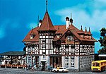 Trossingen Station Kit (Painted & Weathered) -- HO Scale Model Railroad Building -- #110114