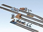 Trackside Accessories Kit -- HO Scale Model Railroad Accessory -- #120141