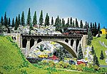 Stone Arch Bridge 36 x 4.4cm -- HO Scale Model Railroad Bridge -- #120533