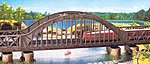 Arch Bridge Kit 36 x 6.5 x 11.9cm -- HO Scale Model Railroad Bridge -- #120536