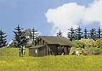 Forest Log Cabin -- HO Scale Model Railroad Building -- #130293