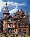 Falkeneck Hunter's Lodge Kit -- HO Scale Model Railroad Building -- #130385