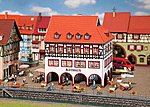 Town Hall with Corner Arcade Kit -- HO Scale Model Railroad Building -- #130491