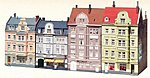 Goethe Street Town Houses Kit -- HO Scale Model Railroad Building -- #130915