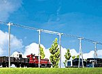 Telegraph Poles Kit (10) -- HO Scale Model Railroad Trackside Accessory -- #130955