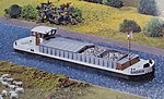 Motor Cargo Barge Kit (Nonpowered Display Model) -- HO Scale Model Boat -- #131005