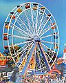 Ferris Wheel -- HO Scale Model Railroad Building -- #140312