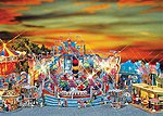 Carnival Rides Breakdancer #1 with 2 Ticket Booths -- HO Scale Model Railroad Building -- #140461