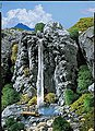 Waterfall -- HO-Scale Model Railroad Scenery -- #171814