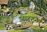 Hiking Trail Accessories -- HO Scale Model Railroad Building Accessory -- #180548