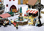 Fountain with Figure -- HO Scale Model Railroad Building -- #180581