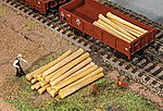 Logs (20) -- HO Scale Model Train Freight Car Load -- #180925
