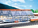 Glass Train Shed -- N Scale Model Railroad Building -- #222128