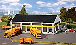 DHL Freight Company Truck Terminal Kit -- N Scale Model Railroad Building -- #222196