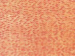 (bulk of 10) Red Brick Textured Wall Cards (Bulk of 10) -- N Scale Model Railroad Scenery -- #222568