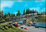 2 Box Girder Bridges with Annexed Walkway -- N Scale Model Railroad Building -- #222578