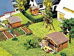 Set of 3 Summer Houses Kit -- N Scale Model Railroad Building -- #232209