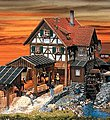 Sawmill (Non-Powered) Painted/Weathered -- N Scale Model Railroad Building -- #232255