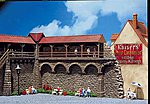Old-Town Wall -- N Scale Model Railroad Building -- #232351