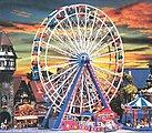 Ferris Wheel Kit -- N Scale Model Railroad Building -- #242312