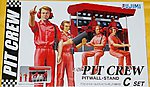 Pit Crew with Pitwall Stand -- Plastic Model Diorama -- 1/24 Scale -- #11332