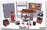 Garage Tools Set #2 -- Plastic Model Vehicle Accessory Set -- 1/24 Scale -- #11371