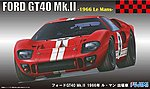 Ford GT40 Mk II 1966 LeMans Race Car -- Plastic Model Car Kit -- 1/24 Scale -- #12606