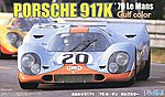 Porsche 917K Gulf Color 1970 LeMans Race Car -- Plastic Model Car Kit -- 1/24 Scale -- #12613