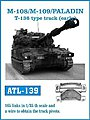 M108/109/ Paladin T136 Type Early Track Set -- Plastic Model Tank Tracks -- 1/35 Scale -- #139