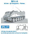 M113/548, Chapparal, Vulcan Track Link Set (160 Links) -- Plastic Model Tank Tracks -- 1/35 -- #17