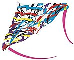 48''x31'' Hyper Sport Stunt Kite -- Single-Line Kite -- #362