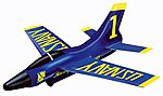 10'' Wingspan Blue Angel Super Sonic Jet w/Trigger Launcher