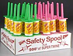 Fluorescent Safety Spool Counter Display (24) -- Kite Accessory -- #8080