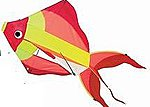 29''x18'' Sun Fish 3-D Nylon Kite -- Single-Line Kite -- #878